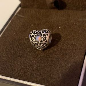 PANDORA Opal Heart Charm